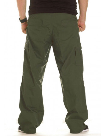 BSAT Combat Cargo Pants Dark Olive Baggy fit
