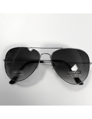 Air Force Sunglasses DeLuxe Edition Silver/Black