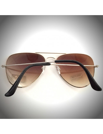 Air Force Sunglasses DeLuxe Edition Silver/Brown