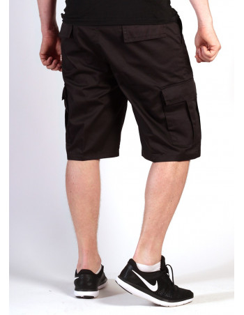 Cargo Shorts Black by Tech Wear