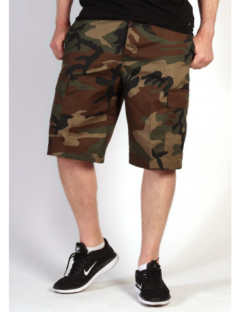 Camo Cargo Shorts Woodland by Tech Wear