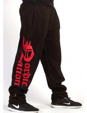 Logo Sweatpants BlackNRed by Nordic Nation