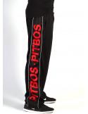 Pitbos Mesh Logo Pants Black
