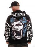 Madness Skull ZipHoodie El Barrio by BSAT