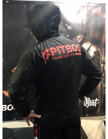Pitbos Lightweight jacket - Black n Red