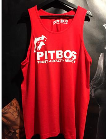 Pitbos Logo TankTop RedNWhite
