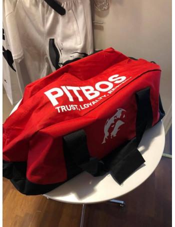 Pitbos Sportsbag Red & White