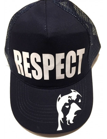 Pitbos Dog Respect Cap Mesh NavyNWhite