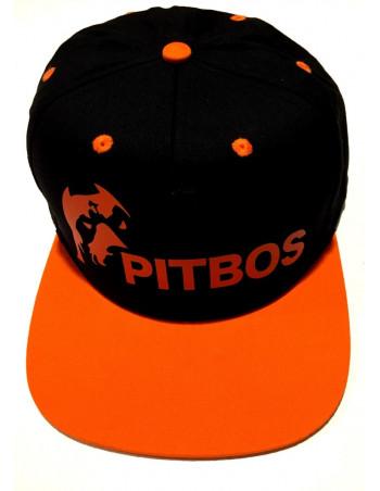 Pitbos Logo Cap BlackNOrange