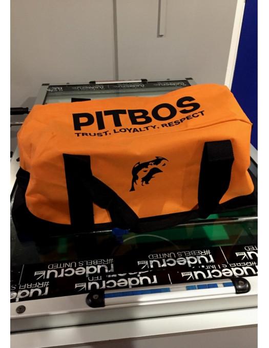 Pitbos Sportsbag OrangeNBlack