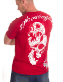 Smile Now T-Shirt Red/White/Red by BSAT
