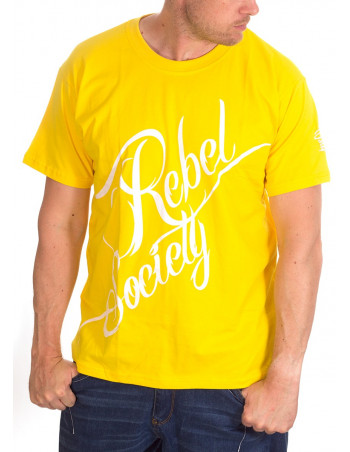 BSAT Rebel Society T-Shirt YellowNWhitee