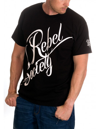 BSAT Rebel Society T-Shirt BlackNWhite