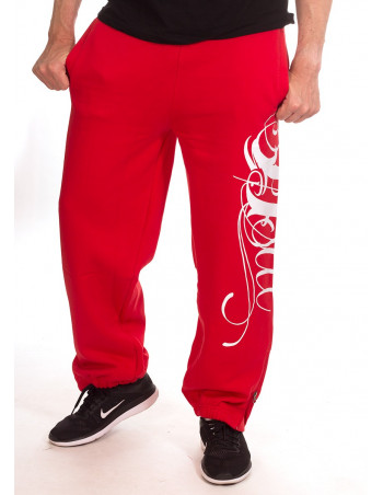 BSAT Art Script Sweatpants Red