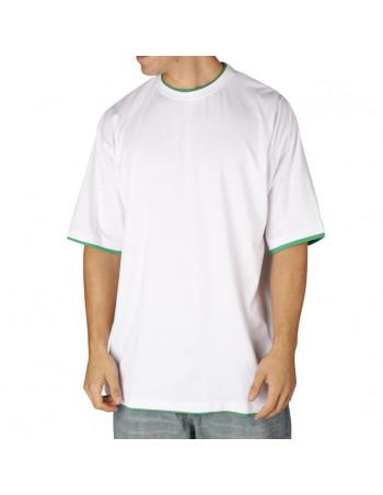 Townz Long Tee white green