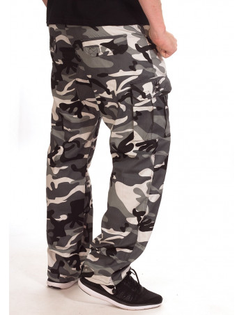 BSAT Camo Regular Fit Combat Cargo Pants Urban Ice