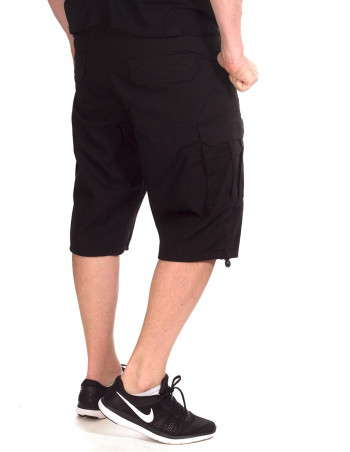 BSAT Baggy Fit Cargo Shorts Black