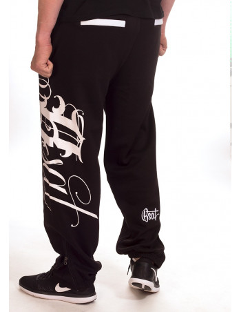 BSAT Art Script Sweatpants Black