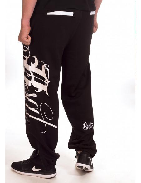 BSAT Art Script Sweatpants Black