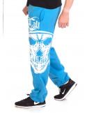 BSAT Cali Skull Sweatpants SkyblueNwhite