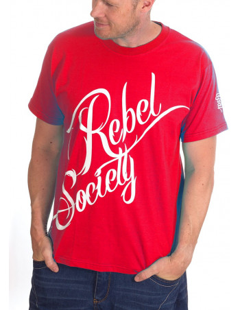 BSAT Rebel Society T-Shirt RedNWhitee