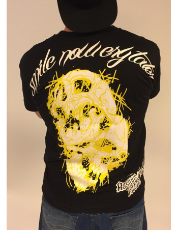 Smile Now T-Shirt Black/White/Yellow by BSAT