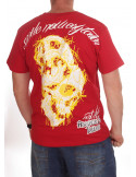 Smile Now T-Shirt Red/White/Yellow by BSAT