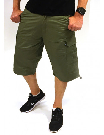 BSAT Baggy Fit Cargo Shorts Olive