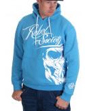 Rebel Society Skull Hoodie SkyBlue