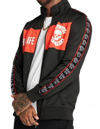 Thug Life Lux Track Jacket BlackNRed