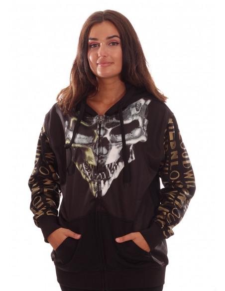 WildNLoud Skull Hoodie El Barrio by BSAT