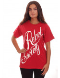 Rebel Society T-Shirt RedNWhite by BSAT