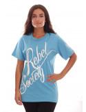Rebel Society T-Shirt SkyBlueNWhite by BSAT