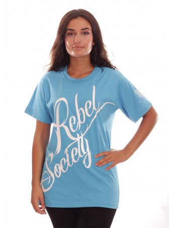 Rebel Society T-Shirt SkyBlueNWhite by BSAT