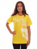 Rebel Society Skull T-Shirt Yellow by BSAT