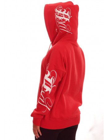 Red Art Script Hoodie by BSAT