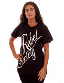 Rebel Society T-Shirt BlackNWhite by BSAT