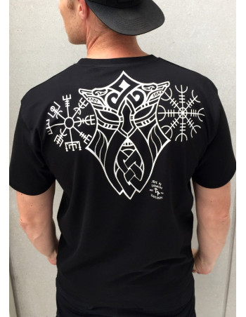 Vegvisir T-Shirt Black By Nordic Nation Premium Cotton