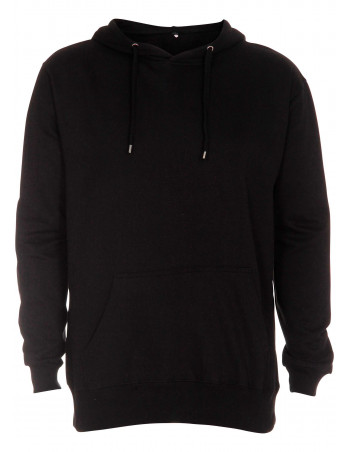 Hoodie All Black Plain