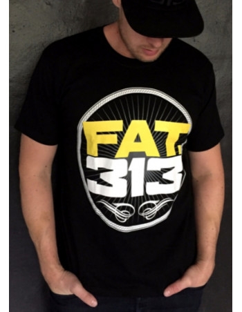 FAT.313 Bomber Excellence Tee Black YellowNWhite
