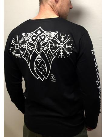 Vegvisir L/S T-Shirt by Nordic Nation Black