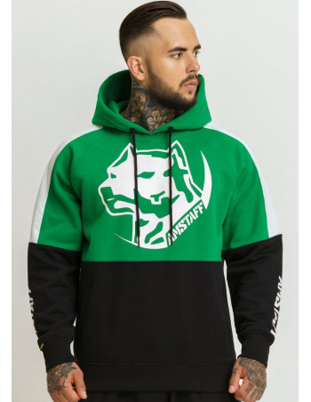 Logo Dog Hoodie by Amstaff Black/Green/White