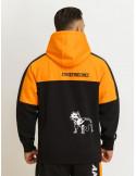 Logo Dog Hoodie by Amstaff Black/Orange/White