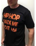 HipHop made me do it T-Shirt BLackNOrange by BSAT