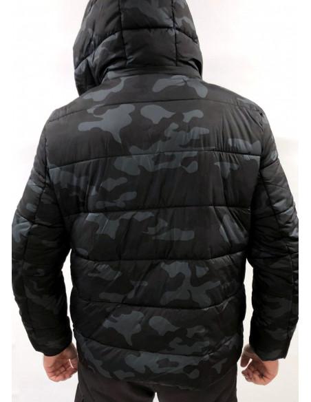 Hooded Dark Camo Puffer Jacket