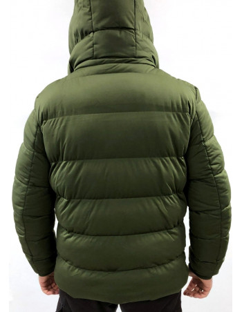 Puffer Hooded Jacket Olive