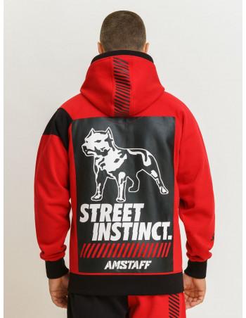 Street Instinct ZipHoodie RedNBlack by Amstaff