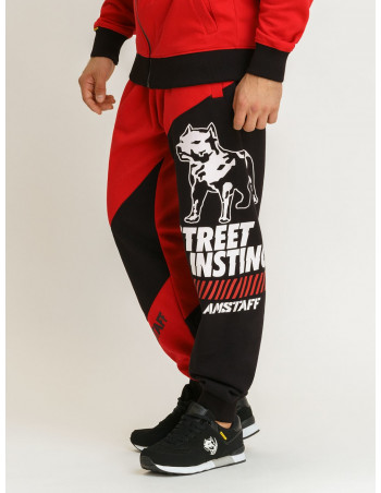 Street Instinct Sweatpants RedNBlack by Amstaff