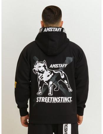Street Instinct ZipHoodie Black by Amstaff