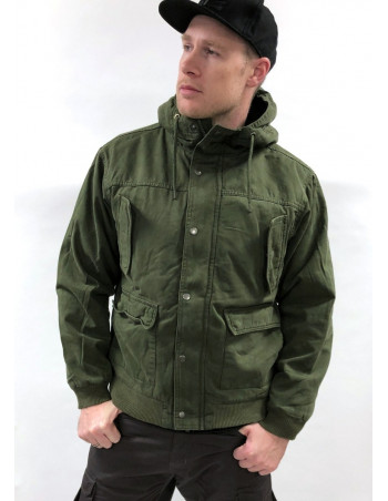 Hooded Jacket Cotton Olive